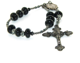 Sacred Heart & Holy Family Chaplet Rosary, Catholic Prayer Beads