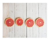 Pink Grapefruit print, kitchen wall decor, food photography, wall art, country home decor, citrus, grapefruit, farmhouse kitchen decor