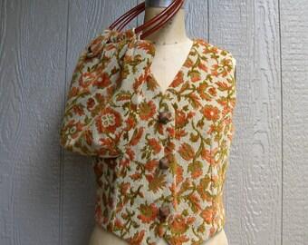 Vintage FALLS CHANGING COLORS Vest and Handbag