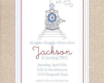 Digital Train Party invitation