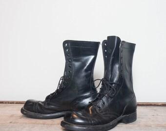 6.5 D | HH Jump Boots Black Combat Boots