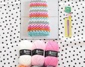 CROCHET KIT: pattern+yarn+hook