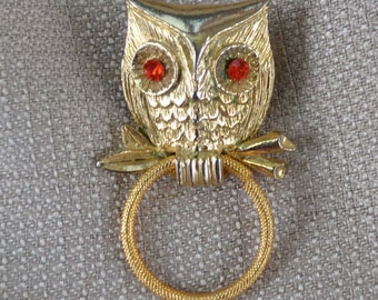 Owl Pin Gold plated