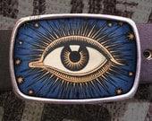 Celestial Eye Belt Buckle - Vintage Inspired Evil Eye 800