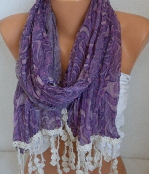 Lavender Summer Scarf,Amethyst Shawl, Cowl Pareo Multicolor Bridesmaid Gift For Her Women Fashion Accessories