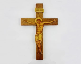 Vintage Wooden Christ on Cross