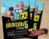 Teen Titans Invitation,Teen Titans Birthday Invitation,Teen Titans Go Birthday Invitation,Teen Titans Go,Teen Titans Go Invitation,Titans
