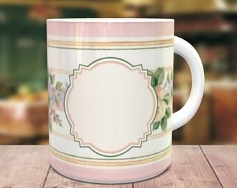 Floral Mug Template,Digital Template,Sublimation Template,Instant Download, PNG