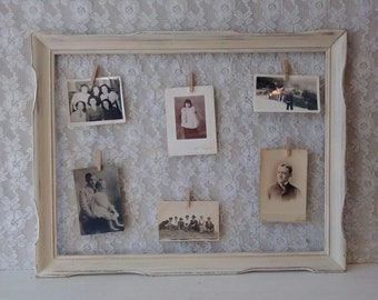 Chicken wire frame, Vintage Picture Frame, Wedding and Home display board, Rustic Cottage, Shabby Cottage, French Farmhouse, Wall decor