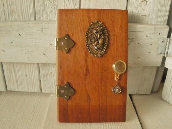 Wood fairy elf door upcycled vintage findings magic fantasy for Wooden elf door