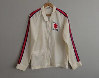 60's Vintage SUZUKI Windbreaker Motorcycle racing Biker Jacket