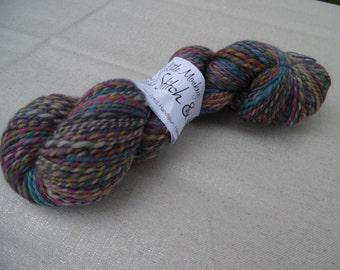 "Handspun polwarth silk, dk, ""Feather"" 3.7 oz, 250 yds, 2 ply"