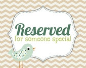 reserved for Liliana