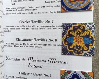 ON SALE 3 Magnetic Bookmarks (3) Mexican talavera designs Free Shipping set of 3 Small size