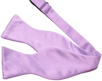 Men's Solid Lavender Self-Tie Bowtie, for Formal Occasions