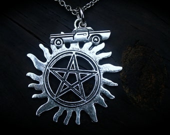 Demon Hunters Charm Necklace - Ghost - Vampire - Werewolf - Angel - Mythology - Paranormal Legends - Apocalypse - Fallen Angels - Pentagram