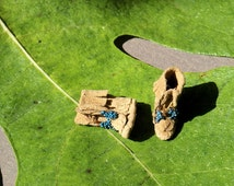 Moccasin boots - Native american boots - miniature boots
