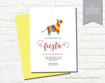 Fiesta Pinata Cinco de Mayo Digital Party Invitation