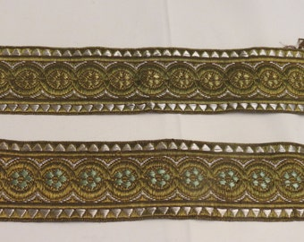 Authentic Old Vintage  Metallic Gold Trim From Spain