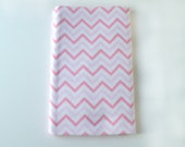 Pink Chevron Flannel Receiving Blanket