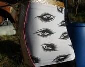 golden leopard snake skin eyes lycra skirt uk size 8 10