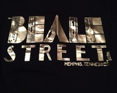 Vintage Black and Gold Beale Street Memphis, Tennessee T-Shirt