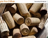 ON SALE Bag of Corks, Large lot of over 100 corks, Synthetic Corks, DIY, Craft Project Supplies