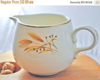 ON SALE Autumn Gold Pattern Porcelain Creamer / Pitcher, Alliance Ohio