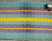 Handmade Rug/Mat of Recycled Lobster Float Rope