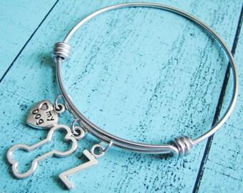 pet gift, pet bracelet, love my dog bracelet, pet memorial pet loss, personalized pet jewelry, bone bracelet, dog jewelry gift for dog lover