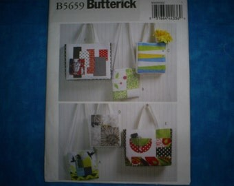 Butterick 5659 Fashion Bags and Purses.