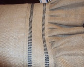 """French Grain sack Burlap Pillow Cover Decorative French Country Slip Cover 12 """"Square with 9"""" rufffles"""