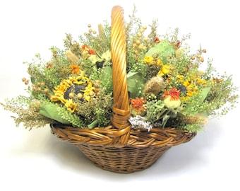 Fragrant Floral Arrangement, Dried Flower Arrangement,  Autumn Floral Centerpiece, Dried Flowers