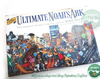 The Ultimate Noah's Ark Vintage Puzzle Book Hardcover with Dust Jacket