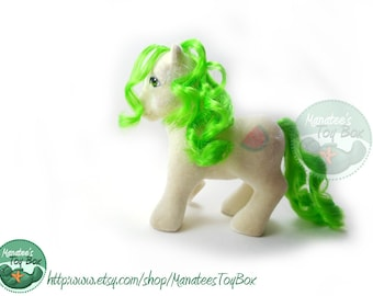 Vintage My Little Pony: Scrumptious So Soft Pony 80s Toy