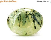 Prehnite Cabochon Stone (31mm x 23mm x 8mm) 50.5cts - Oval Cabochon
