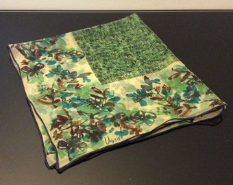 Vera Neumann Scarf  - Asian Floral and Geometric Design