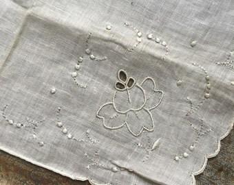 Vintage Unused Madeira Handkerchief 1333