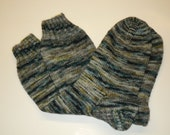Hand Knit Socks/ Women's Size 8 - 9.5/ Superwash Merino Wool and Nylon