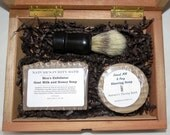 Oatmeal Milk and Honey Cigar Box Deluxe Shave/Shaving Set Kit - Rocky Patel Puck