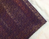 Half yard of Indian silk brocade in indigo and gold