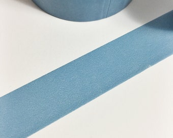 Blueish Grey Solid Blue Washi Tape 11 yards 10 meters 15mm