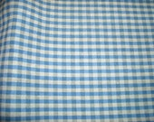 Fabric Destash, Check fabric, Blue and beige fabric, 2 + yards