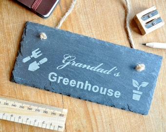 Personalised Greenhouse Slate Sign