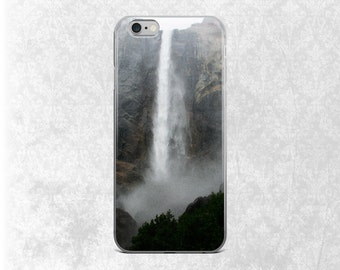Waterfall iPhone 7 Case, Nature iPhone, iPhone 7 Case, iPhone 6 Case, Scenery Galaxy S7 Case, Crashing Waterfall, Yosemite California, S5