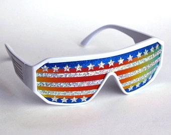 Rasslor American Flag Shield Sunglasses