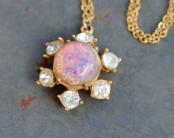 Pink Opal Short Necklace