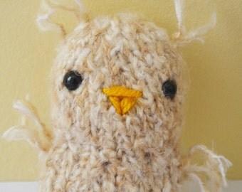 Ozzy the Owl Plush Plushie Stuffed Animal Amigurumi Knitted Bird