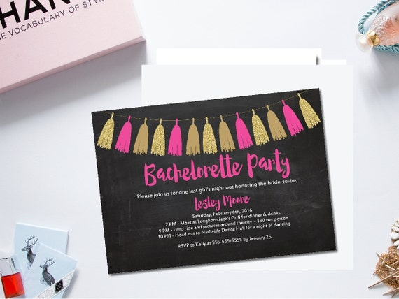 Printable Bachelorette Party Invitationbachelorette Garland Invite - Template for bachelorette party invitations