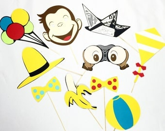 Curious George party props